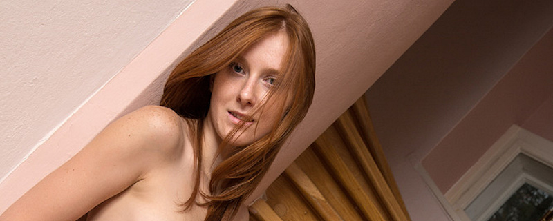 Linda Sweet on the stairs