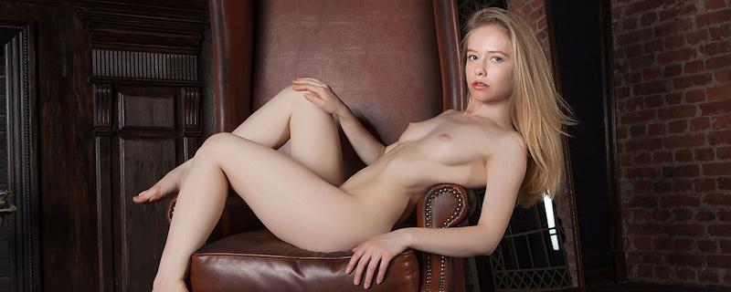 Lola Chic on stylish armchair