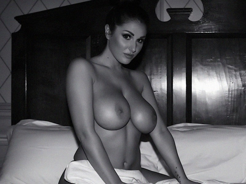 black and white big naked boobs