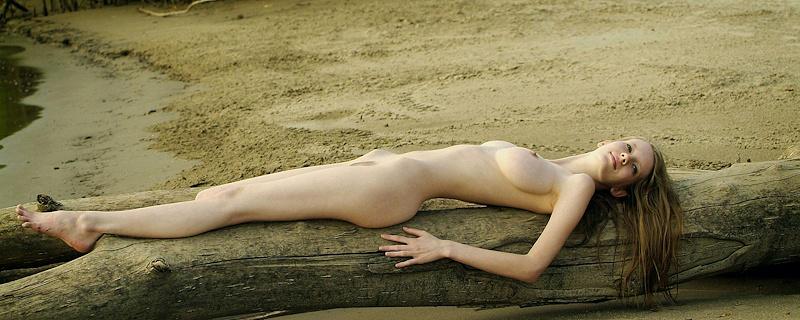 Mandi Collins by the lake