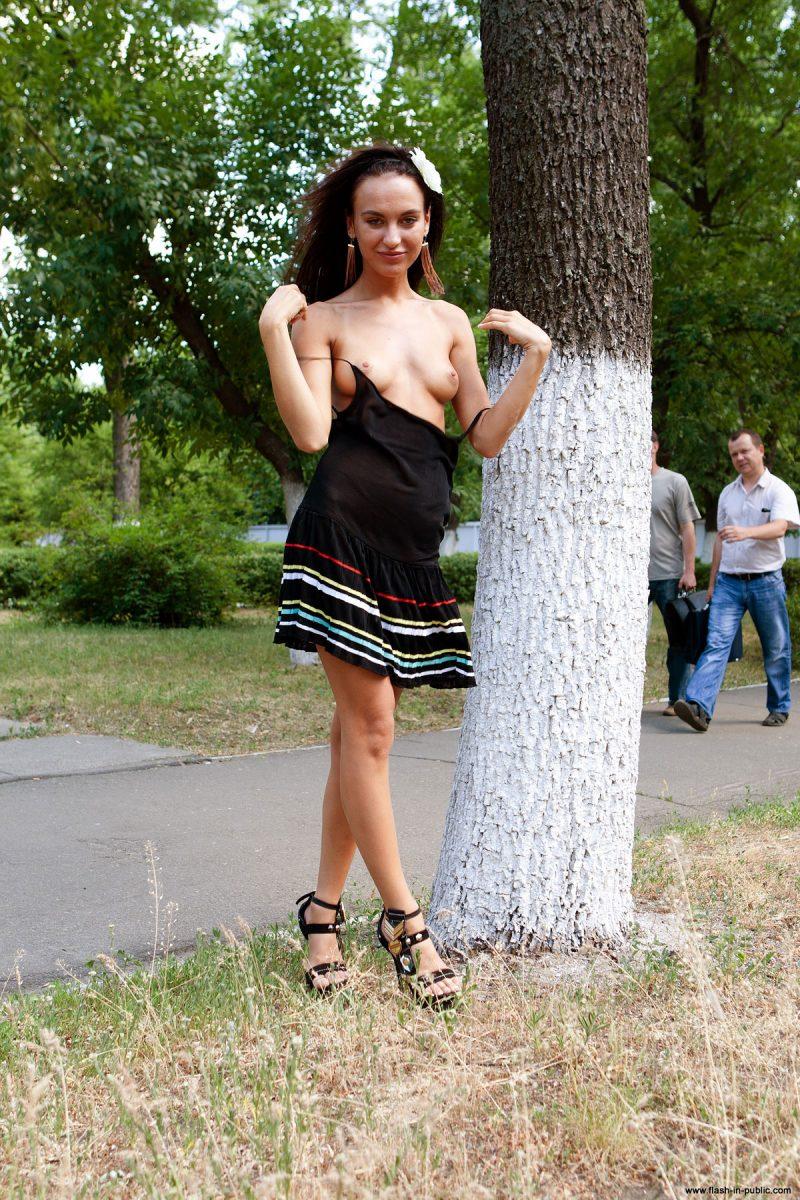 maria - flashing in public