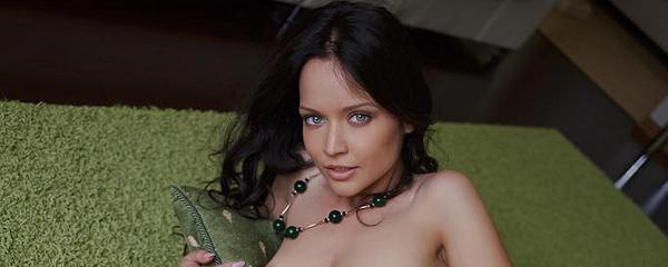 Marica on green carpet