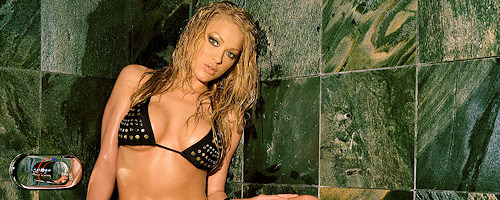 Markesa Yeager takes a shower