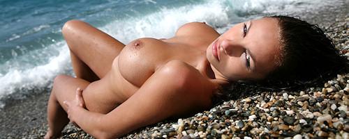 Marta Zawadzka at the seaside