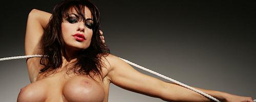Marta Zawadzka in sexy black bodysuit