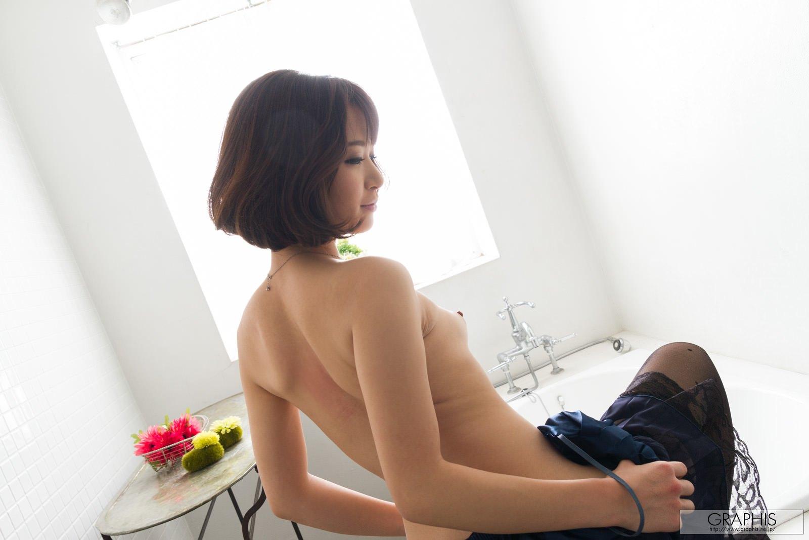 mayu-kamiya-bathroom-black-stockings-asian-naked-graphis-12