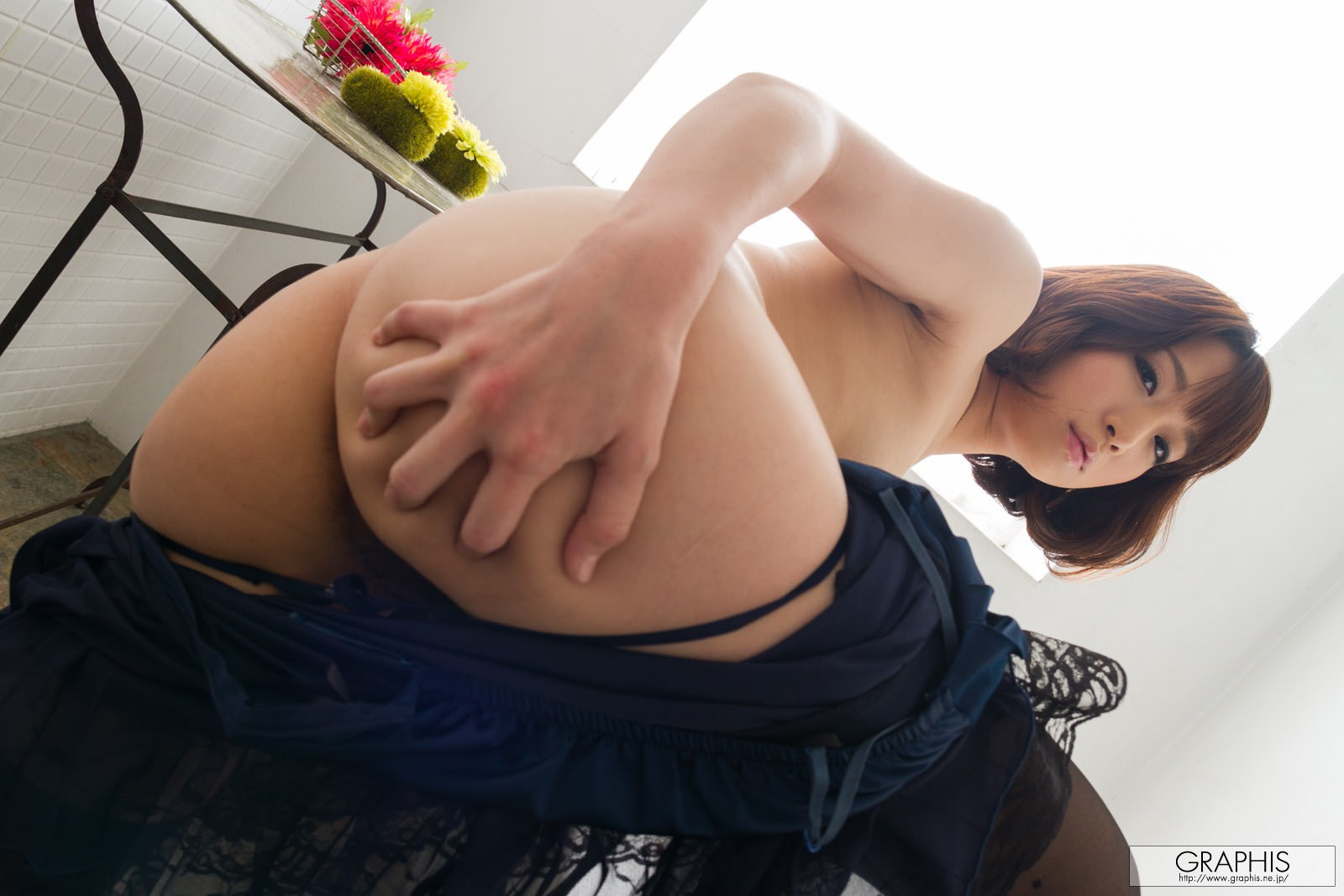 mayu-kamiya-bathroom-black-stockings-asian-naked-graphis-14