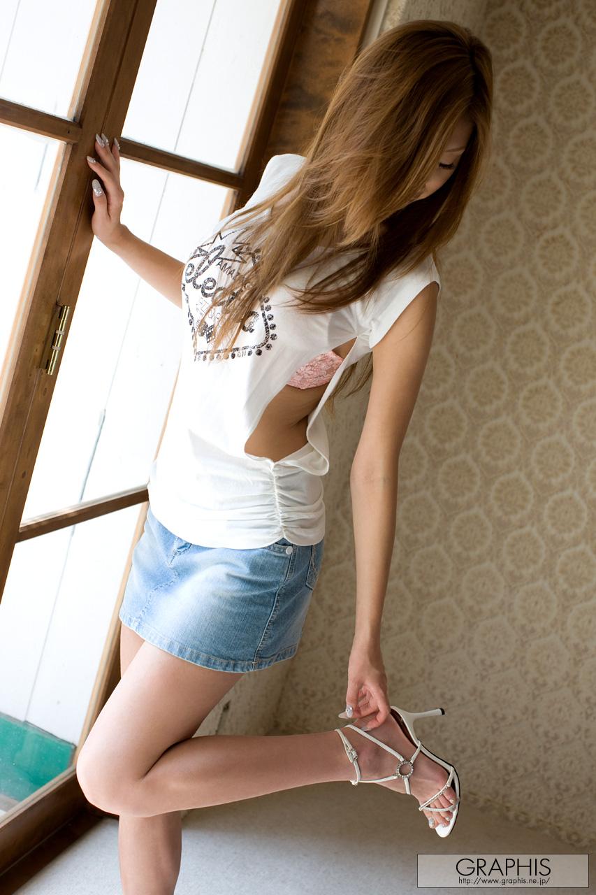 mayumi-sendoh-nude-asian-jeans-miniskirt-graphis-04