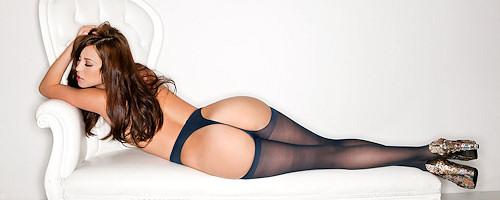 Megan Medellin in pantyhose