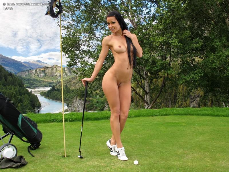nude boobs on golf course