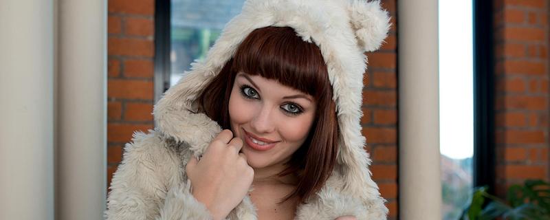 Mellisa Clarke wearing fur jacket