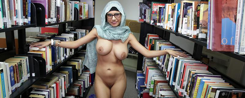 Mia Khalifa in public library