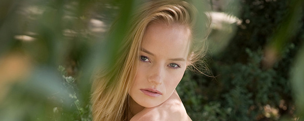 Mia nude on the lawn