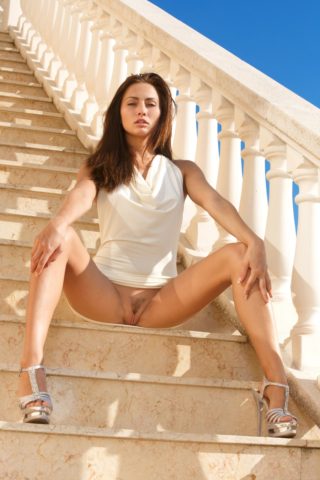 michaela-isizzu-stairs-high-heels-naked-sexart-07