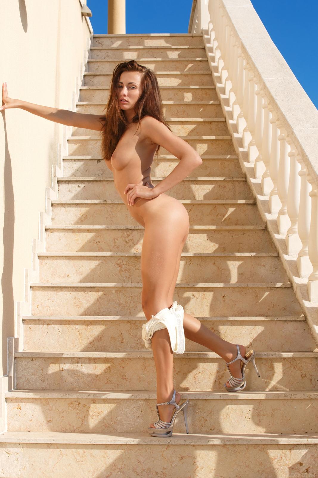 michaela-isizzu-stairs-high-heels-naked-sexart-16