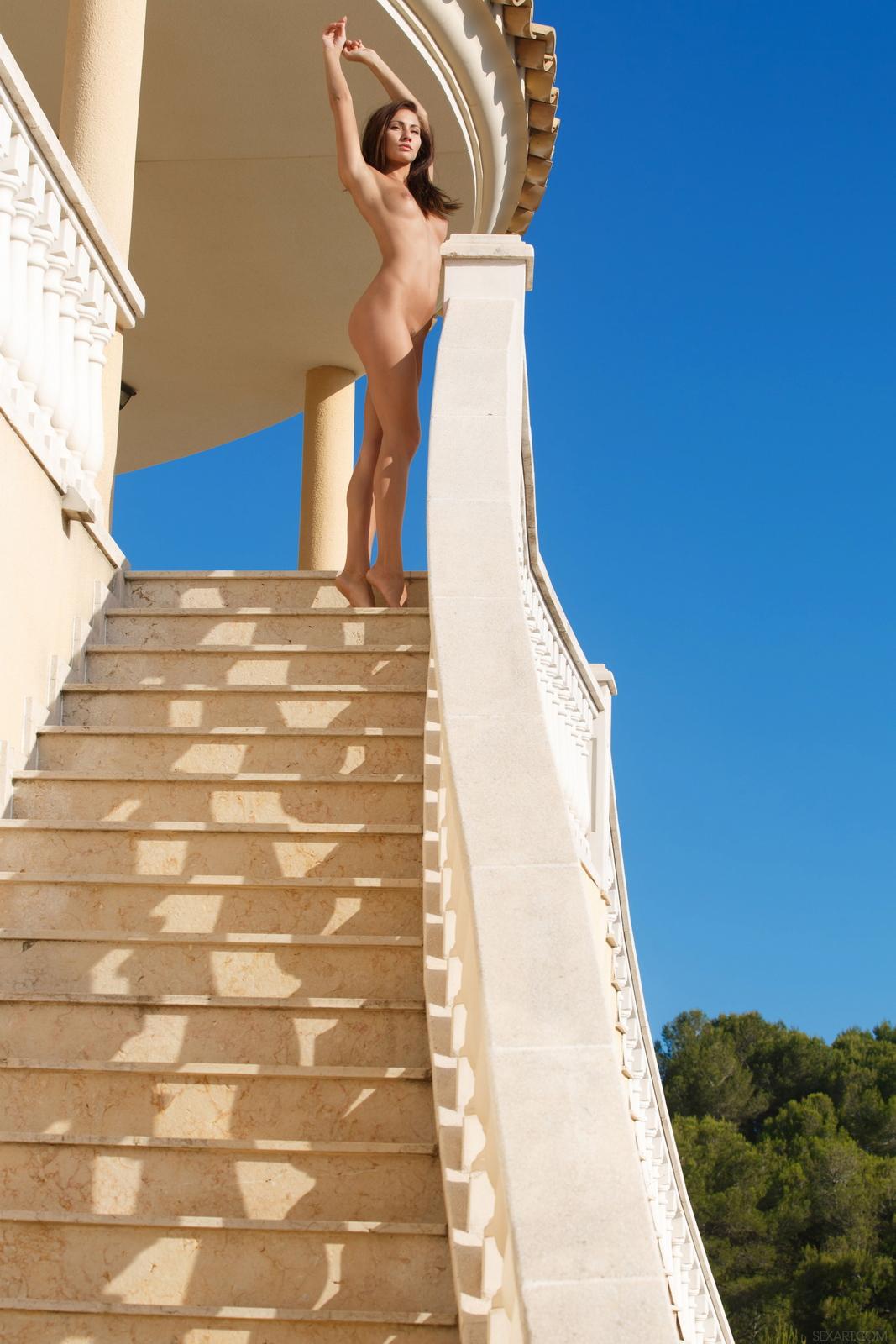 michaela-isizzu-stairs-high-heels-naked-sexart-45