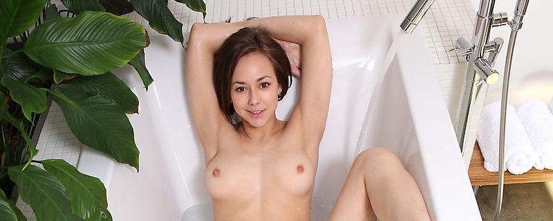 Miren in bathtub