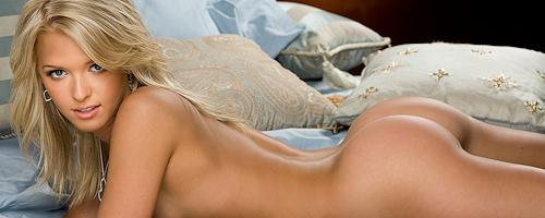 Misty Rhodes in bedroom