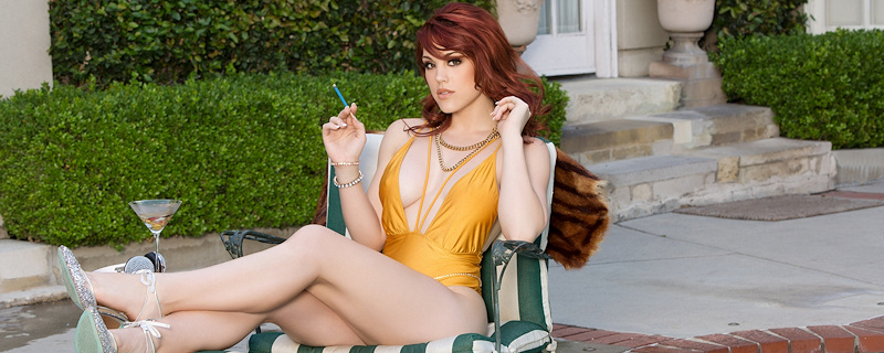 Molly Stewart – Lady in yellow swimsuit