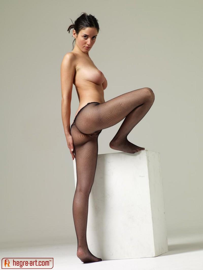 nude girls in fishnet stockings