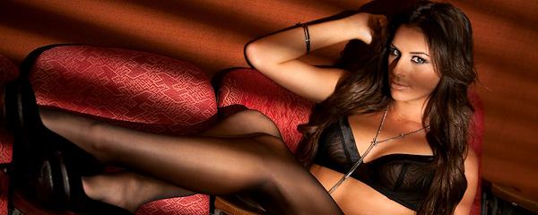 Nadia Marcella in black stockings
