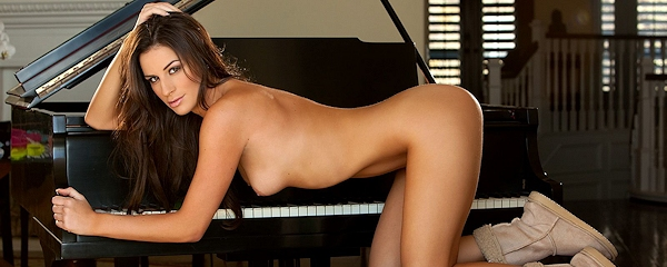 Nadia Marcella at the piano