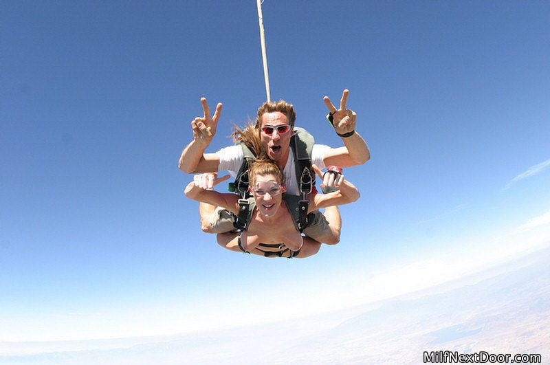 Coed naked skydiving
