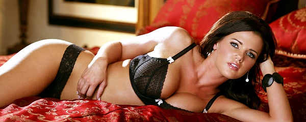 Nancy Patton in black lingerie