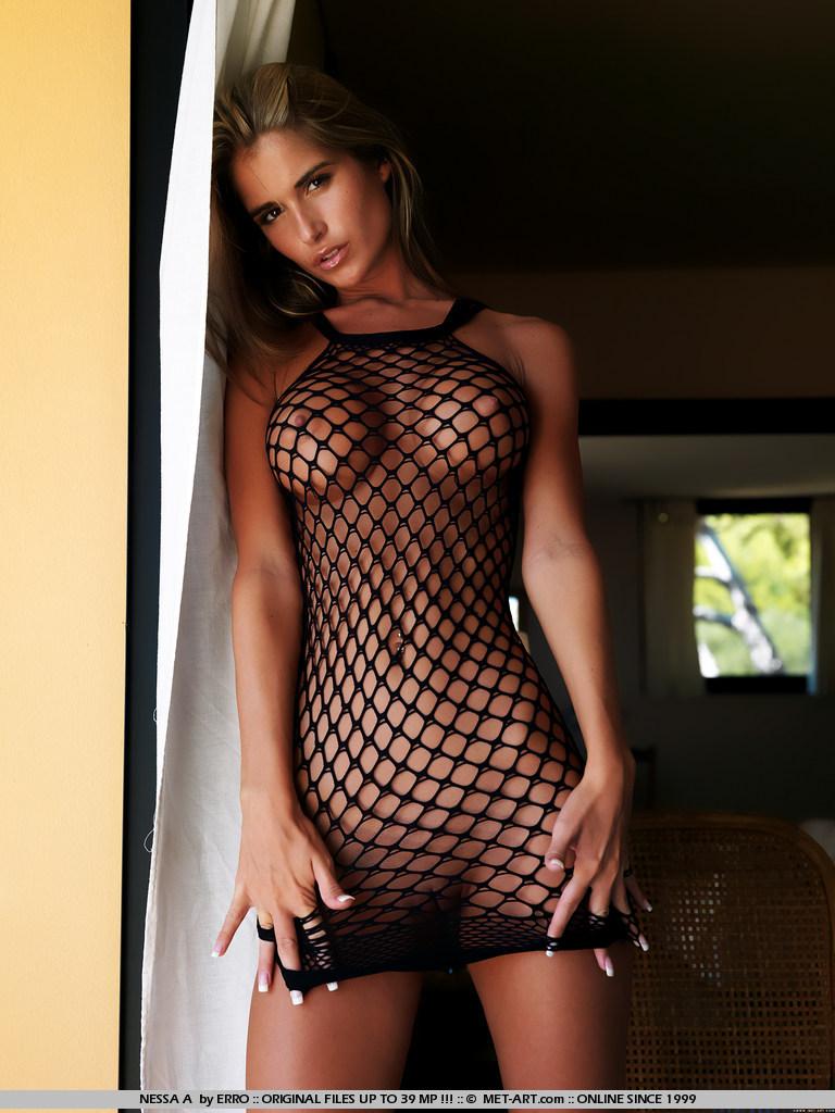 Fishnet Dress Nude Girl Panxxx 1
