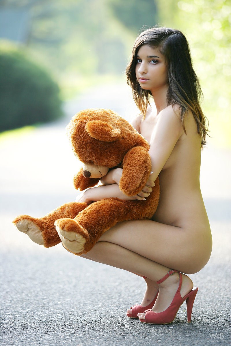 Excellent porn naked girl stuffed bear