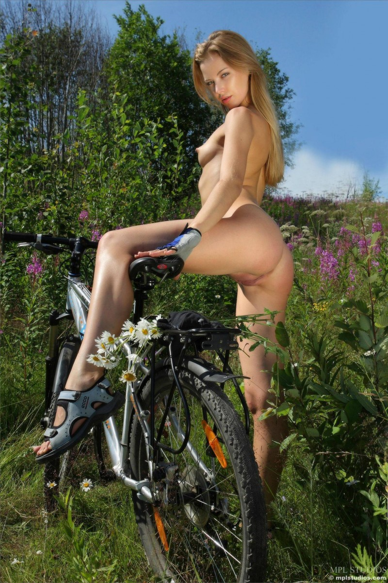 You Girls nude on bikes spread