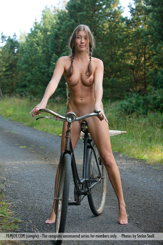 Sexy naked girls on bikes think, that