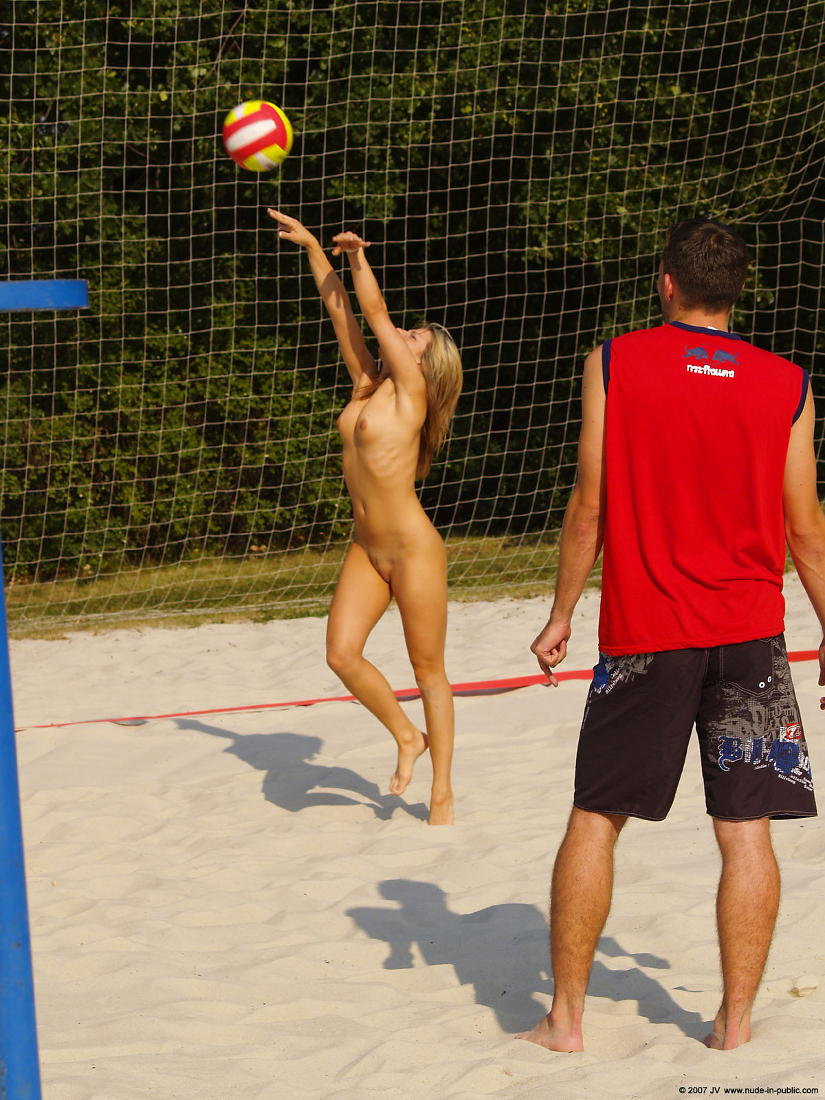 The sexy volleyball girl naked