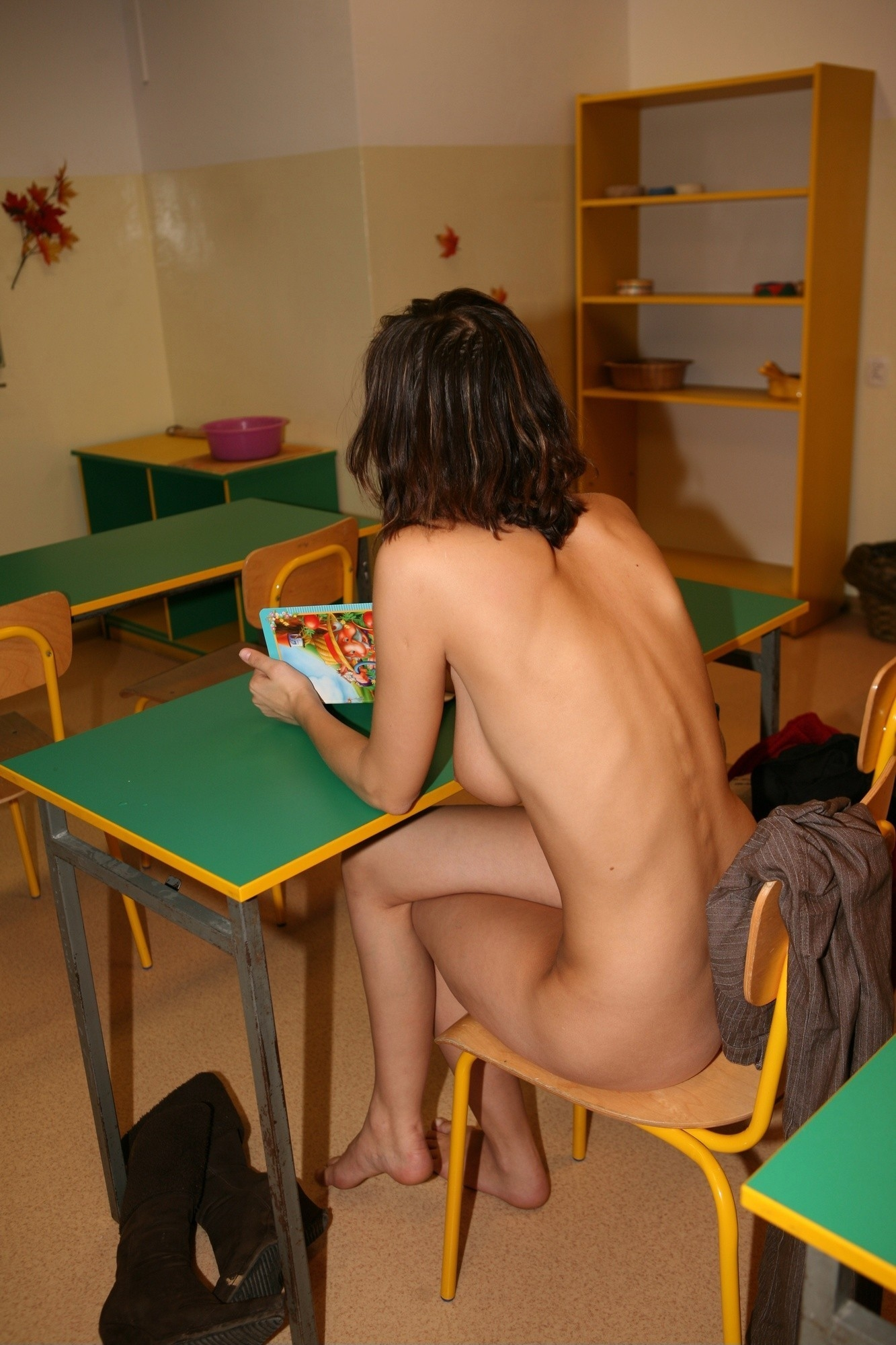 California nude school, naked woman abused amateur video
