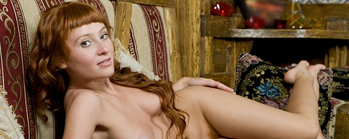 Ossana – Redhead hairy pussy