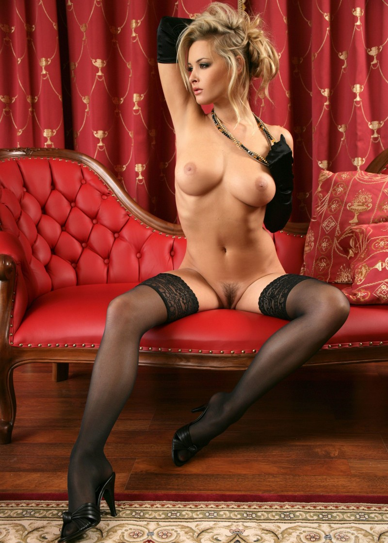sexy naked women in black stockings