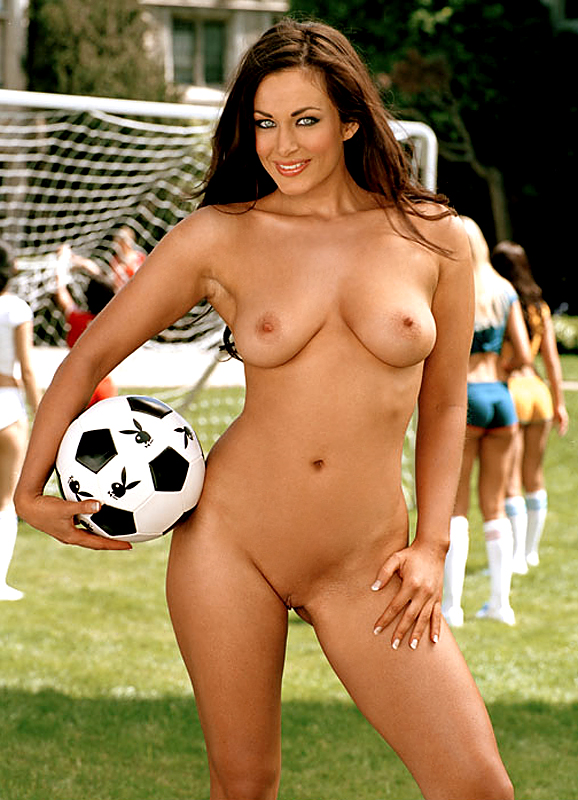 nude weman foot ball vido
