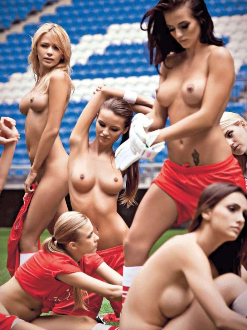Pity, that football girls play naked commit