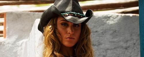 Rebecca DiPietro in cowboy hat