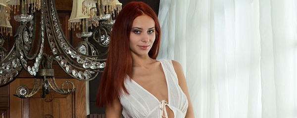 Rufina in white dress