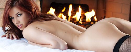 Sabrina Maree in black stockings
