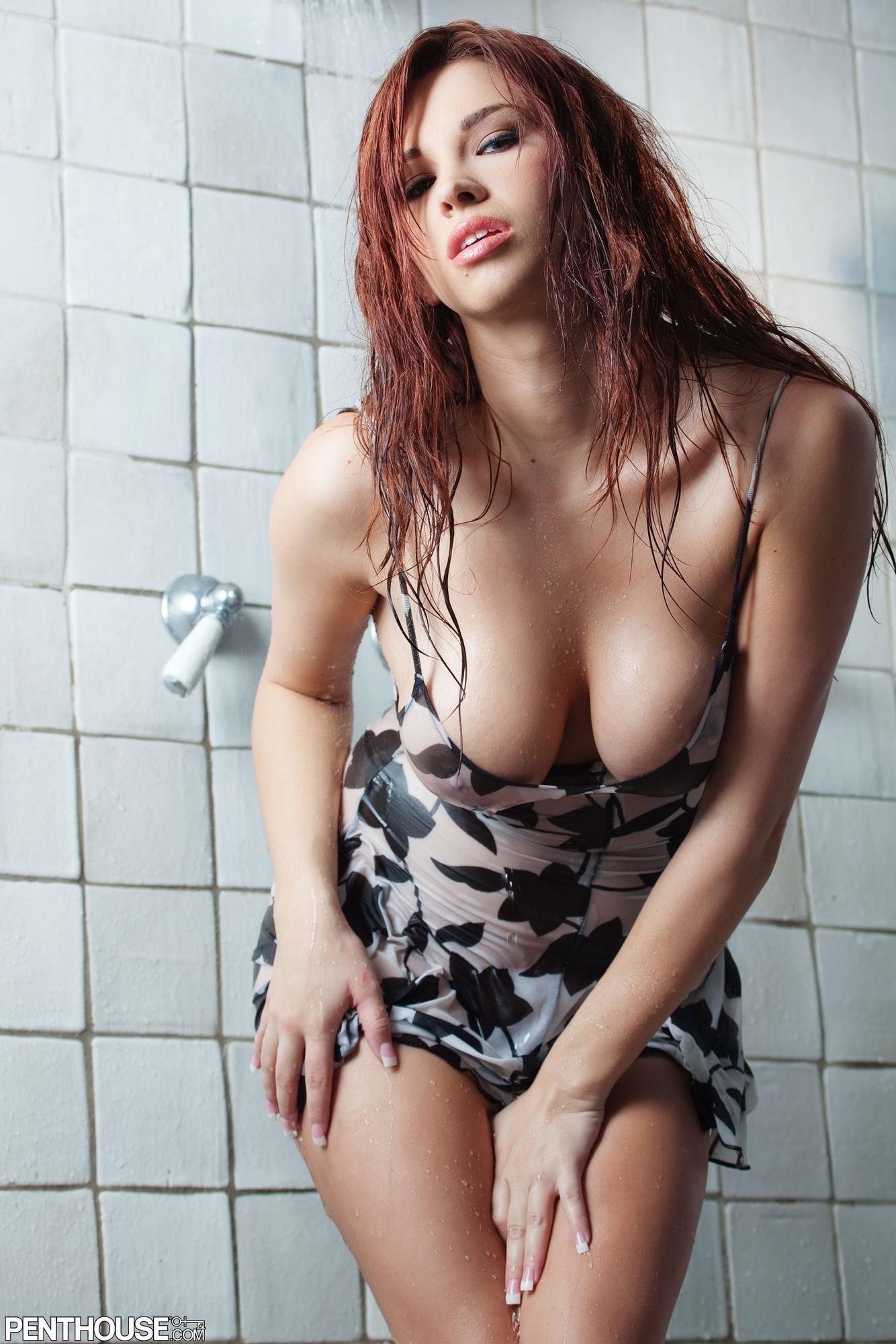 sabrina-maree-shower-wet-tits-naked-penthouse-23