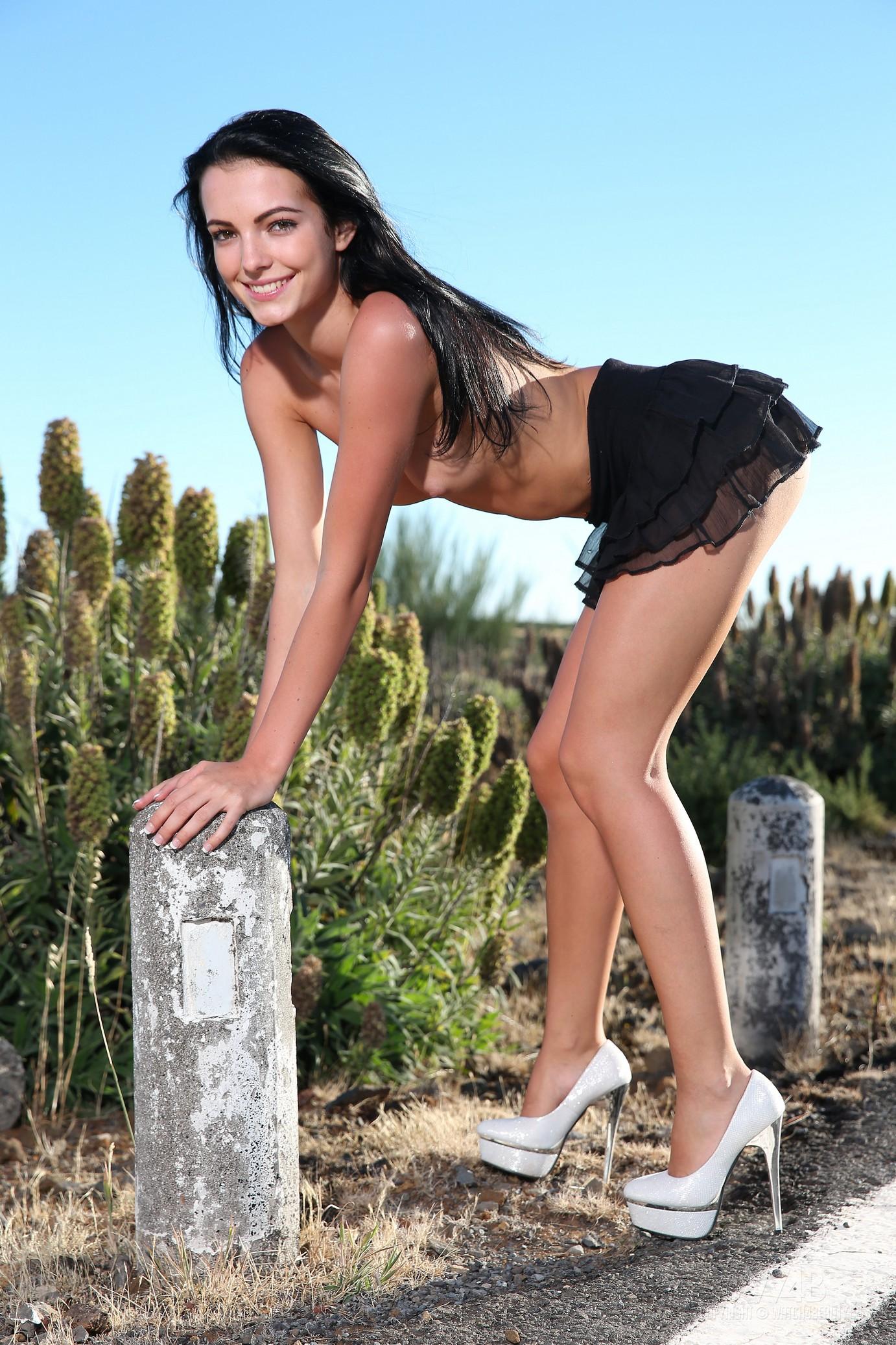 sapphira-naked-madeira-road-high-heels-brunette-w4b-28