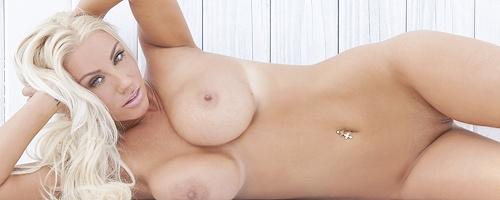 Sarah Summers in one piece bikini