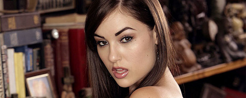 Sasha Grey in garters and stockings