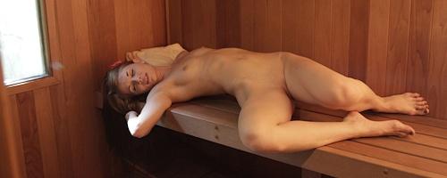 Sensi Pearl in sauna