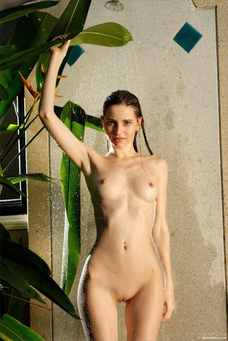 Nudist shower