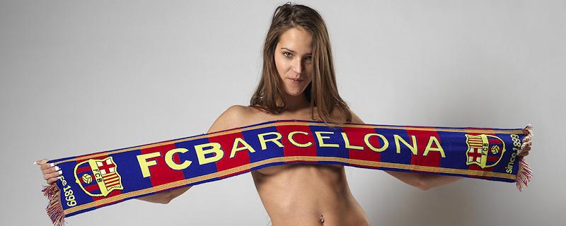 Silvie – Naked FC Barcelona fan