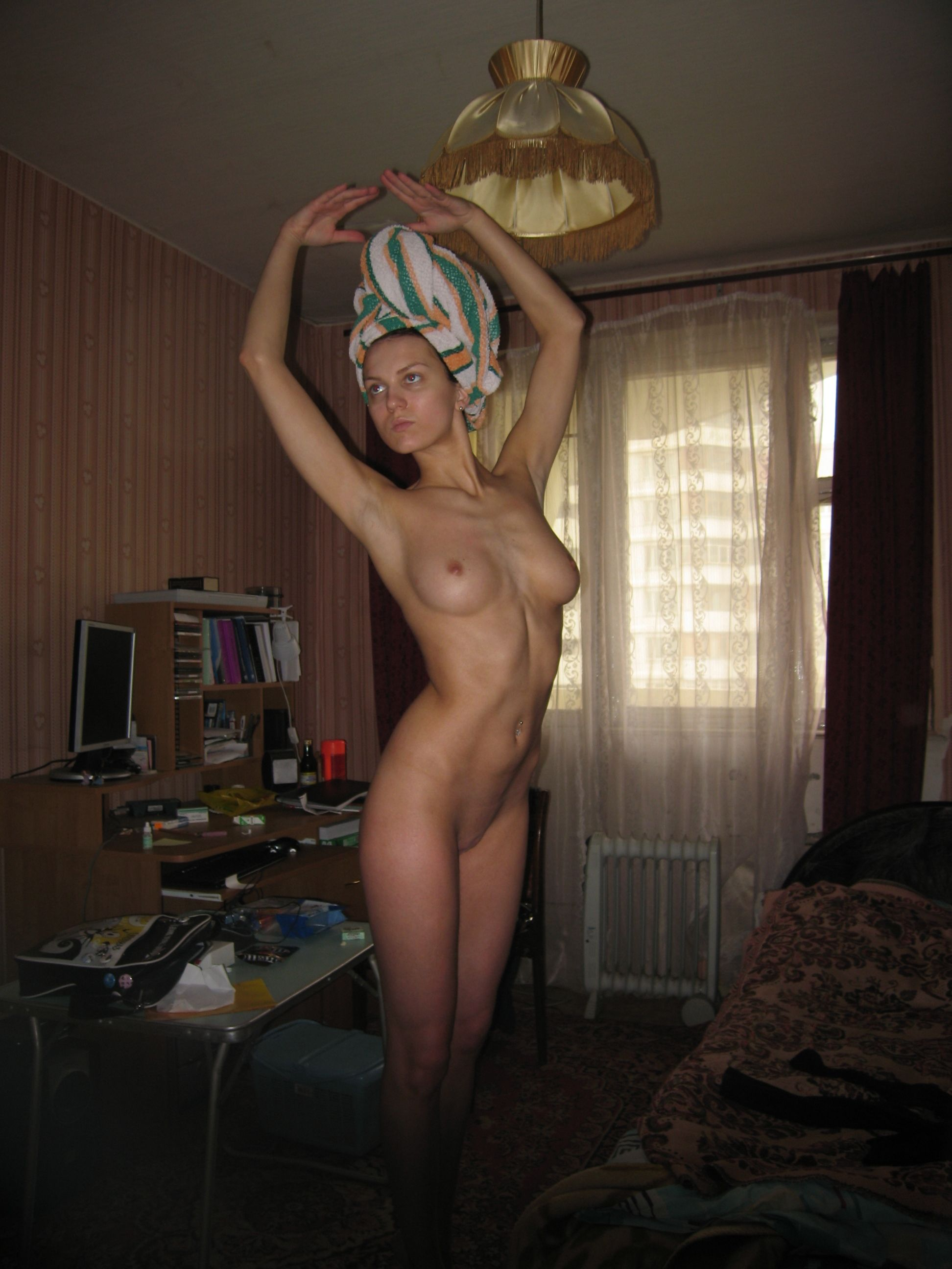 nude after shower