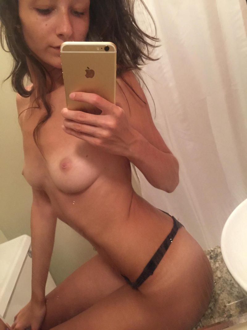 Hot chubby brunette amateur selfie nude something